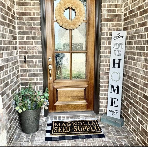 Welcome Sign | Welcome To Our Home Sign | Porch Wood Sign | Patio Decor | Porch Decor | Entryway Sig #helloautumn