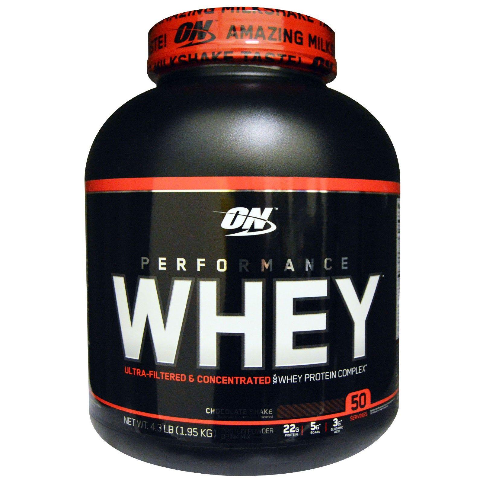 Optimum Nutrition, Performance Whey, Chocolate Shake, 4.3