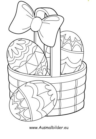 Ausmalbild Korb Mit Bunten Ostereiern Zum Ausmalen Ausmalbilder Malvorlagen Ostern Osterhase In 2020 Ostereier Ausmalen Malvorlagen Ostern Osterei Vorlage