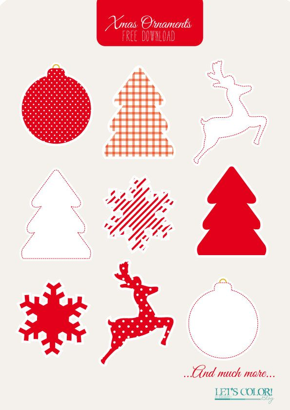 Xmas Ornaments free download by Let\'s Color! Blog #xmas #christmas ...