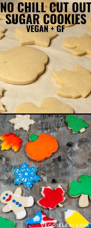 Vegan Gluten Free Sugar Cookies for Cut Outs #sugarcookies