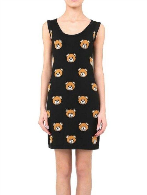 Moschino Teddy Bears Vest Women Skirts Dress Skirt