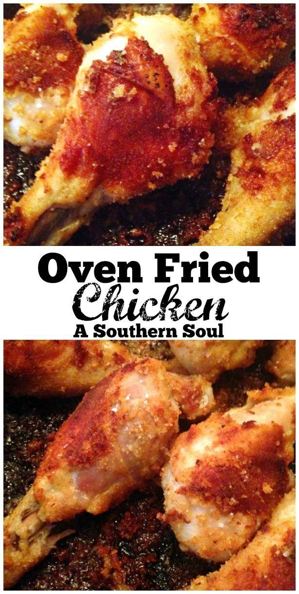 Oven Fried Chicken Recipe Best Food Blogger Recipes Pinterest