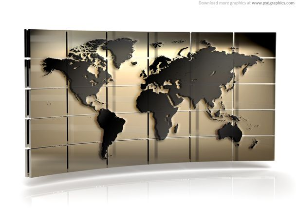 World map wall psd graphics around the world pinterest world map wall psd graphics sciox Choice Image