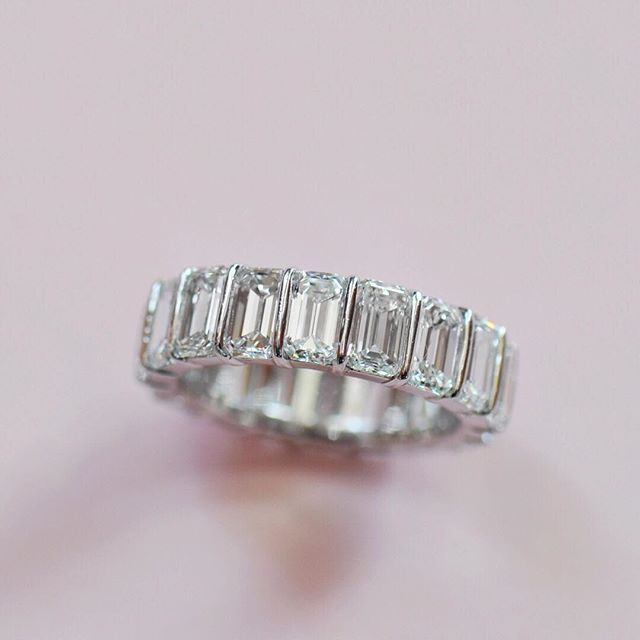 Eternal love in our baguette eternity band handmade by Ricardo