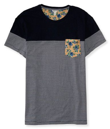 "Liven up your style with our Floral Pocket Tee! It features a timeless striped pattern and crew neck design, while a botanic chest pocket adds a trendy touch. Pair it with everything from chinos to shorts -- you can't go wrong!<br><br>Authentic fit. Approx. length (M): 29""<br>Style: 7301. Imported.<br><br>100% cotton.<br>Machine wash/dry."
