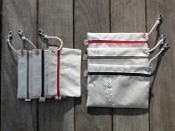 small pouches to fit inside the bags