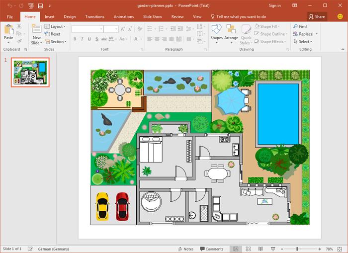 PowerPoint Gartendesign Vorlagen Garten design, Design