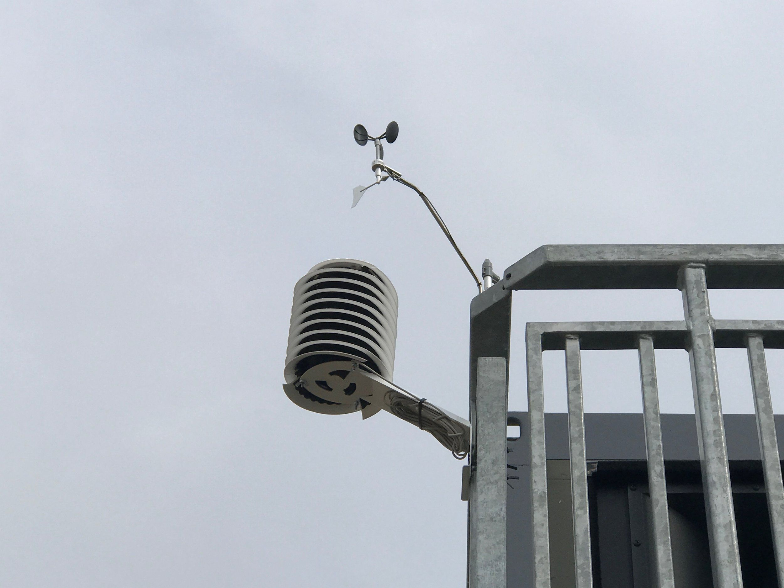 MeteoHelix® weather station watching over the
