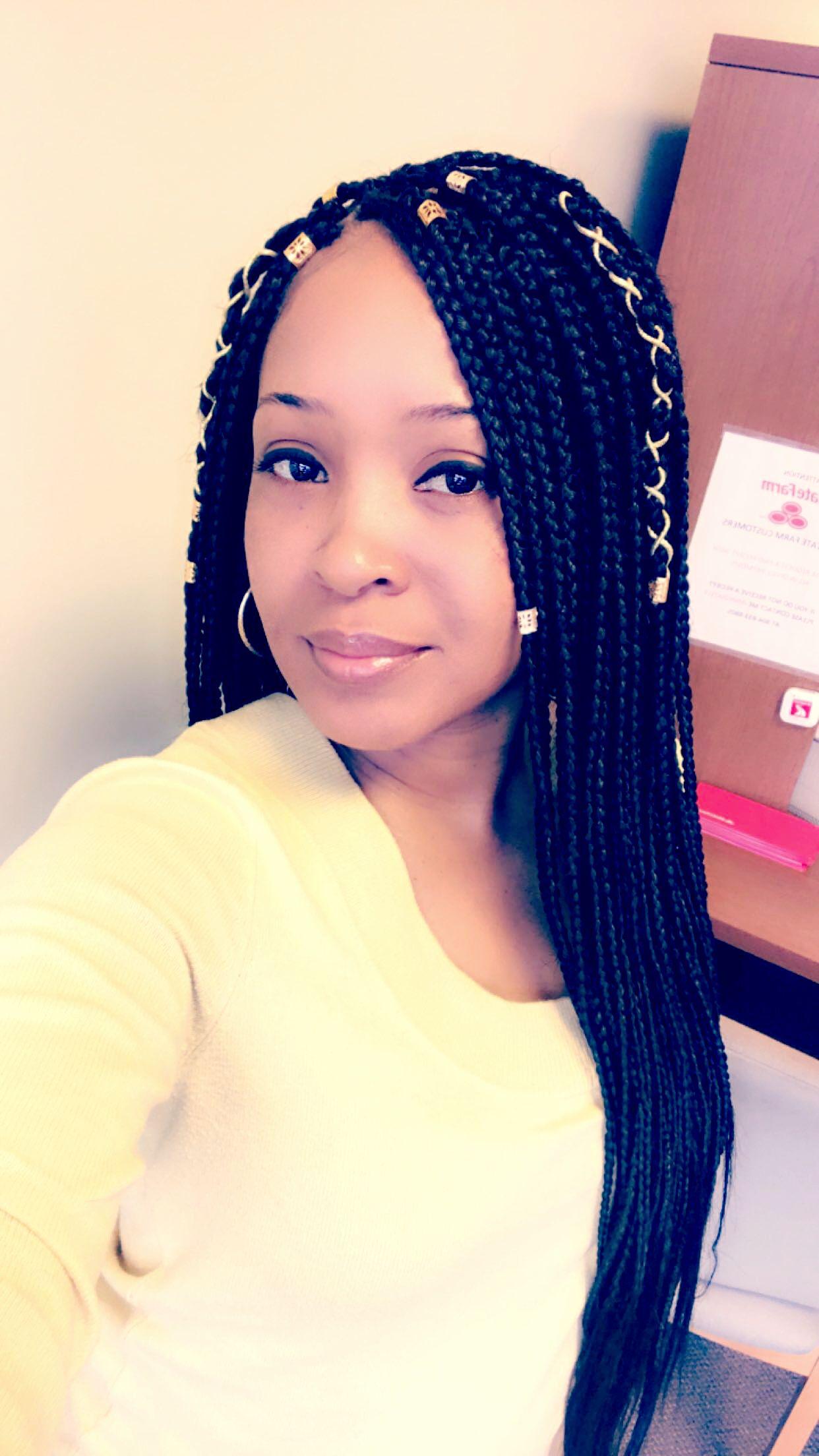 Long small box braids | Hair down styles, Braid styles ...