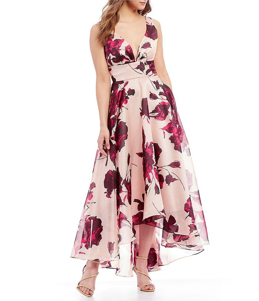 Ignite Evenings Floral Print Hi-Low Ball Gown | Ball gowns, Dillards ...