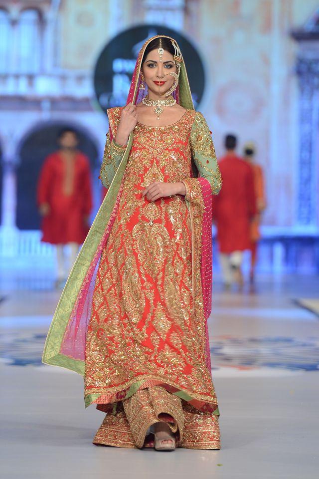 nomi ansari bridal collection at pbcw 2014 day 1 | pakistani
