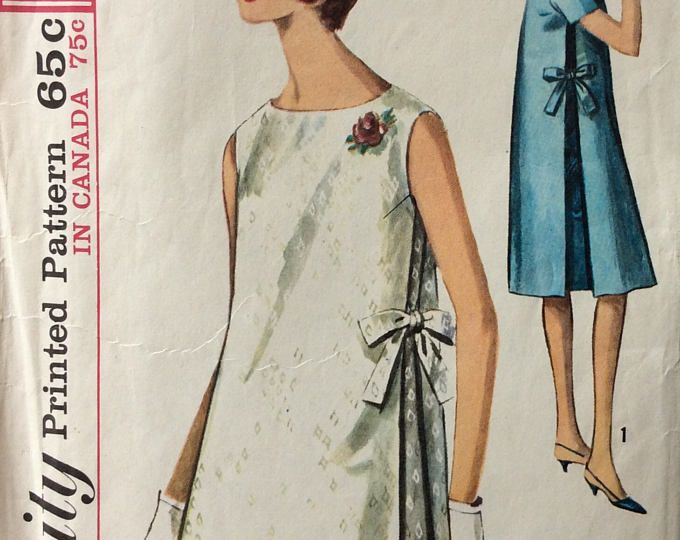 Vintage 60s Butterick 4407 CUT Misses Maternity Tent Dress with ...