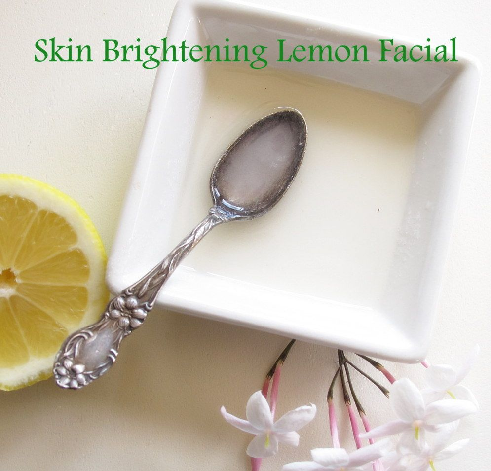 I grab a lemon off our neighbors  tree and combine the lemon juice and a small bit of sugar to make a gentle exfoliating scrub.Apply the scrub to dry skin and lightly rub in, leave it on for about 5 minutes. Rinse with lukewarm water and pat dry with a towel.