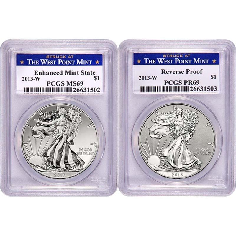 Pin On 2013 Silver American Eagle Pcgs Two Coin Sets