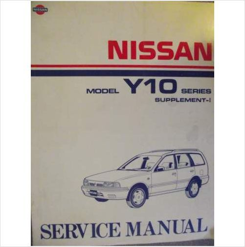 Nissan Y10 Series Service Manual Supplement I 1992 Sm3ey10sg0 On