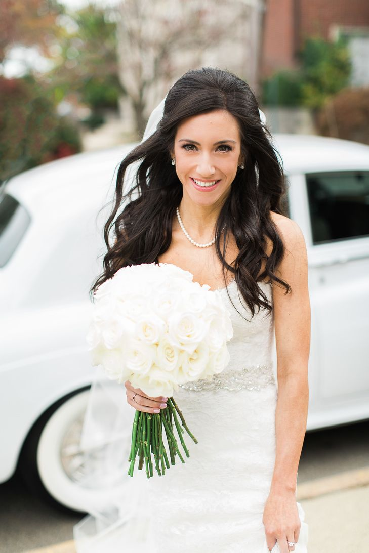 Classic, Down Curled Bridal Hairstyle | Monique Lhullier | Jimmy ...