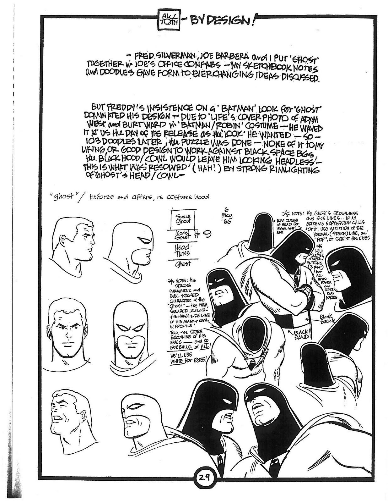 Alex Toth on his work on Hanna Barbara's Space Ghost. Odd to see ...