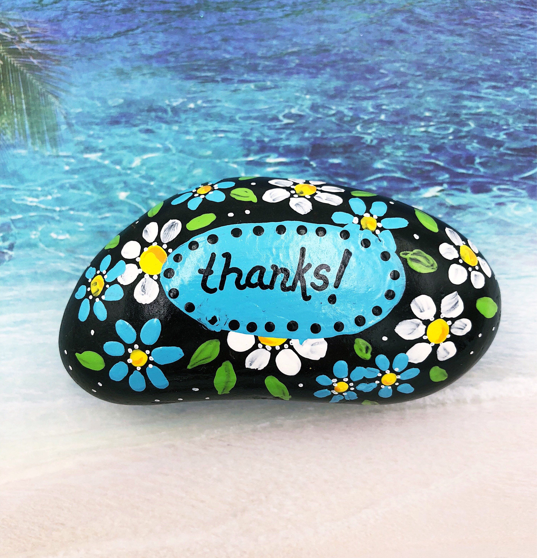 Thanks Painted Rock Thank You Stone Teacher Gift Teacher