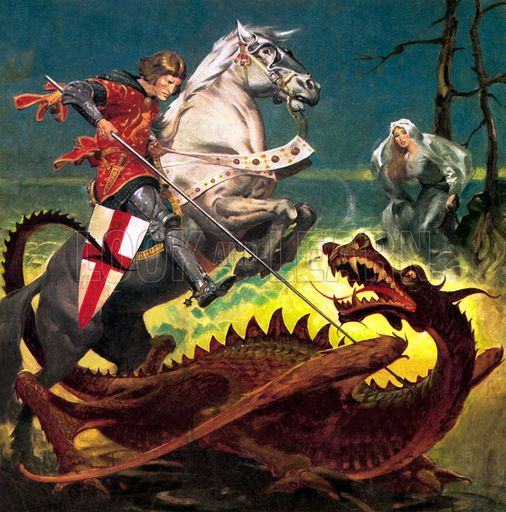 Image result for st george killing the dragon