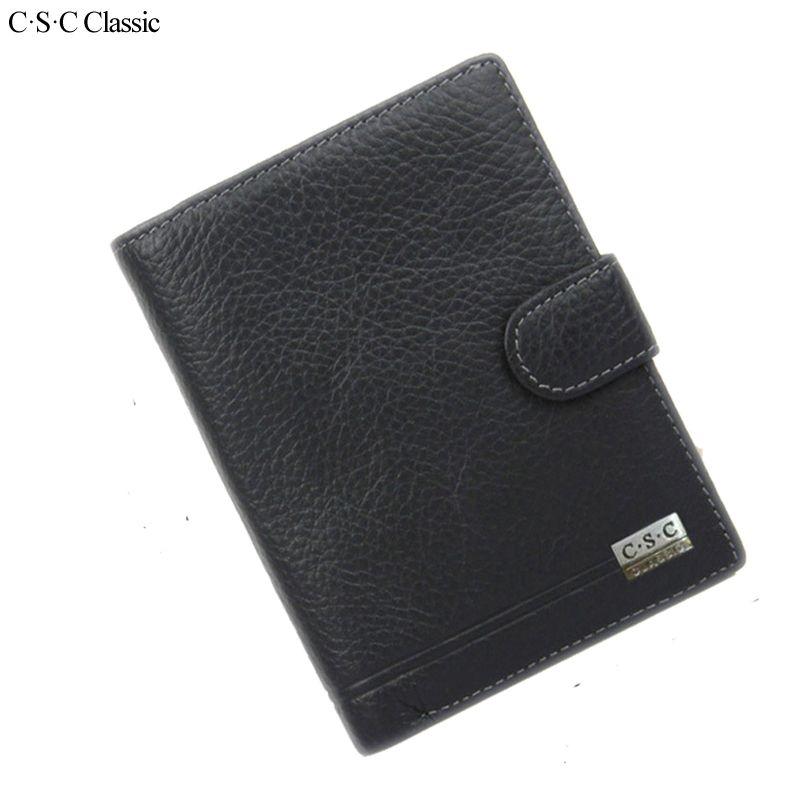 Men Black Business PU Leather Wallet Pocket Card Holder Clutch Bifold Slim Purse