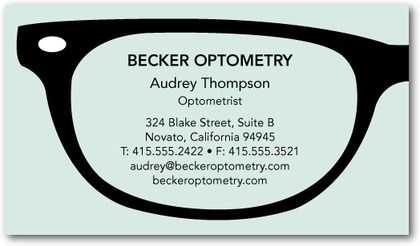 The perfect business cards for your profession optometry business optometry business cards google search colourmoves Images