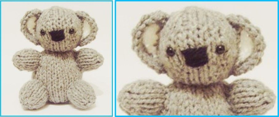 Adorable Knitted Koala Baby FREE Knitting Pattern (With ...