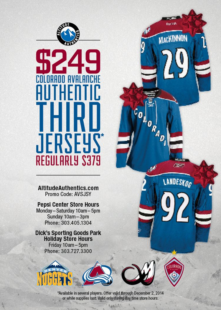 pretty nice 22347 e1fdd Colorado Avalanche Authentic Third Jersey Offer for Black ...