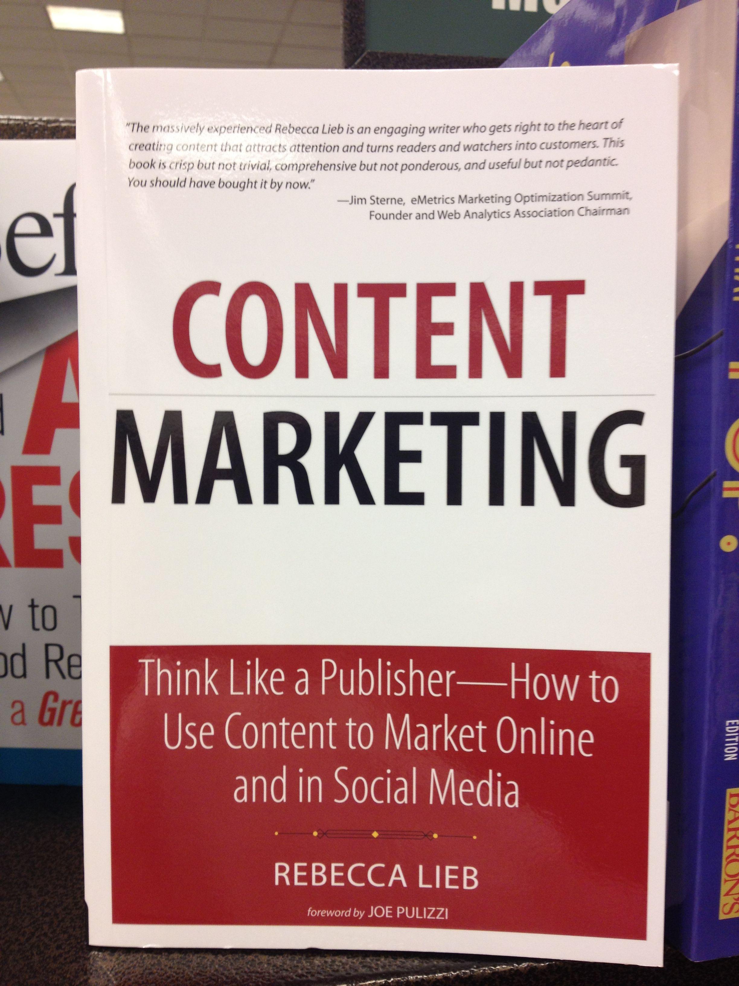 Otro libro disponible sobre Content marketing