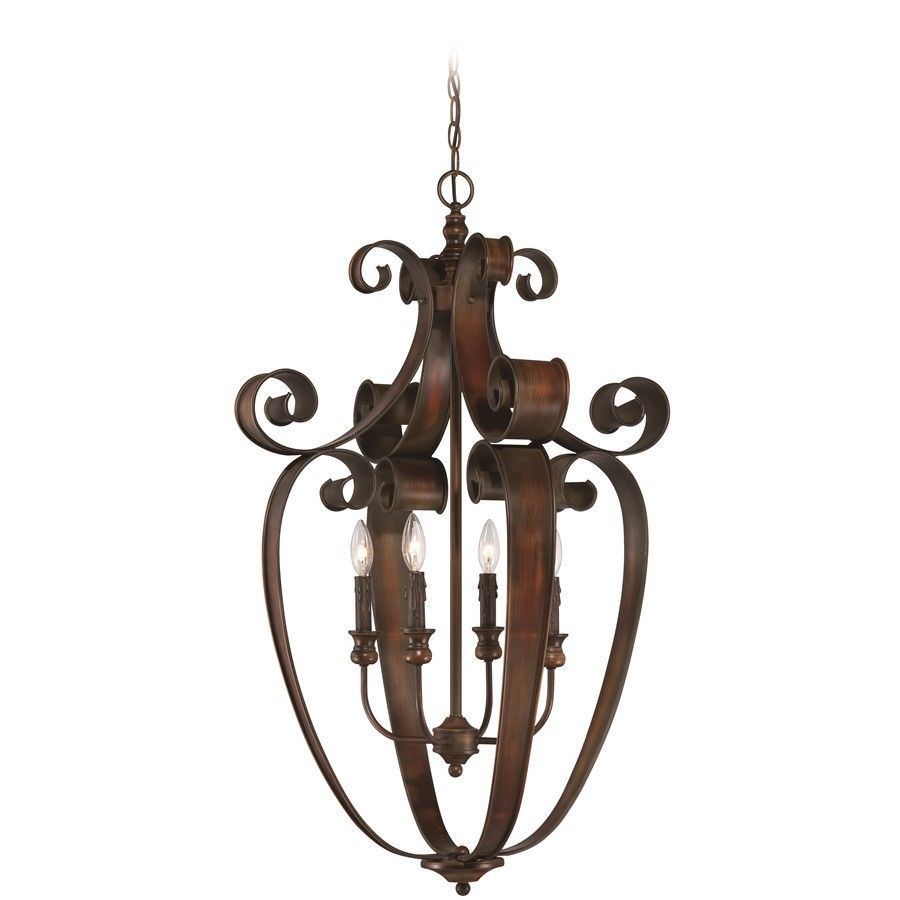 Details about Craftmade Seville 4 Light Foyer in Spanish Bronze - 28034-SPZ images