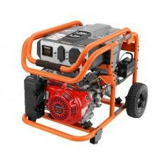ridgid gasoline powered electric start portable generator with honda engine at the home depot mobile