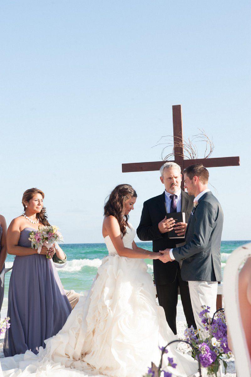 do you invite officiant to wedding reception%0A Purple and Gray Boho Chic Beach Wedding