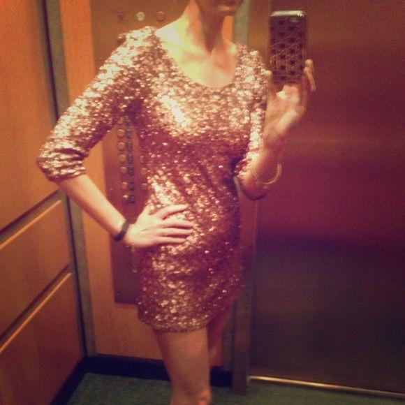 Bronze Sequins Mini Dress Dresses Mini Dress Sequin Mini Dress