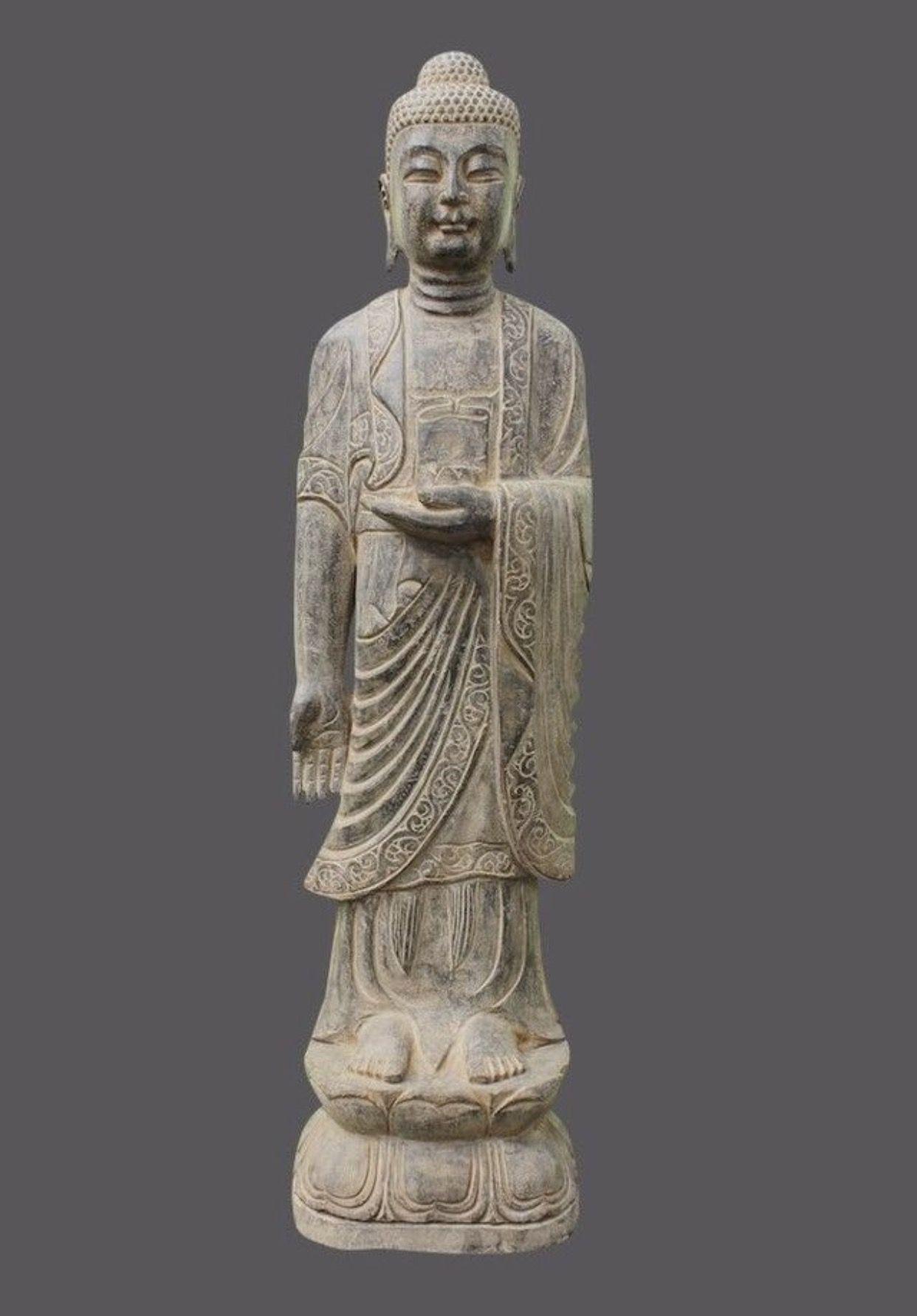 Grosser Garten Buddha Aus Naturstein Asiatischer Garten Buddha Figur Buddha Buddha Statuen