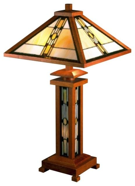 Arts And Crafts Mission Dale Tiffany Craftsman Series Tiffany Table Lamp Modern Table Lamps Tiffany Style Table Lamps Craftsman Lamps Stained Glass Lamps