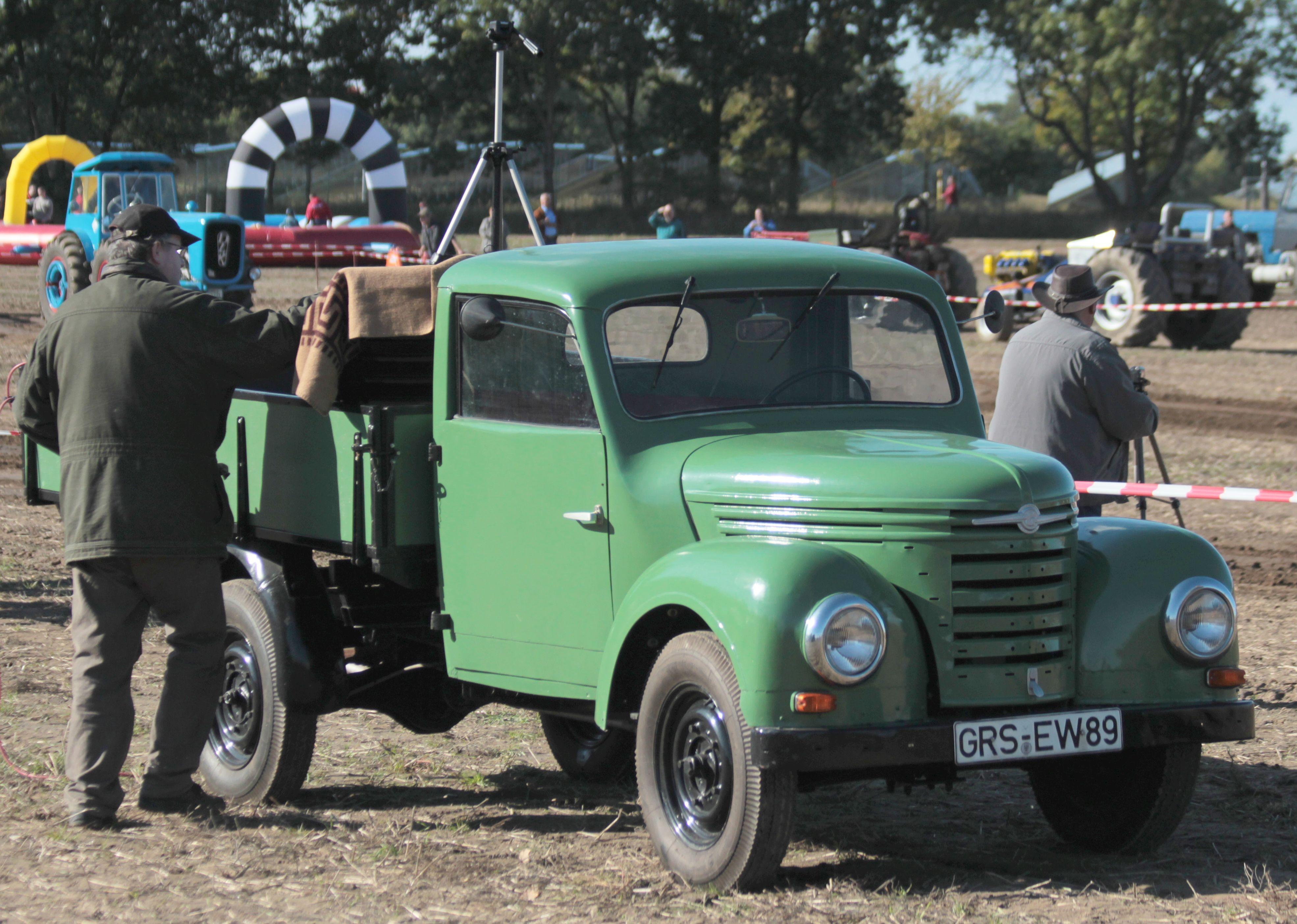 Framo East German Ties Pick Up Truck At Tractor