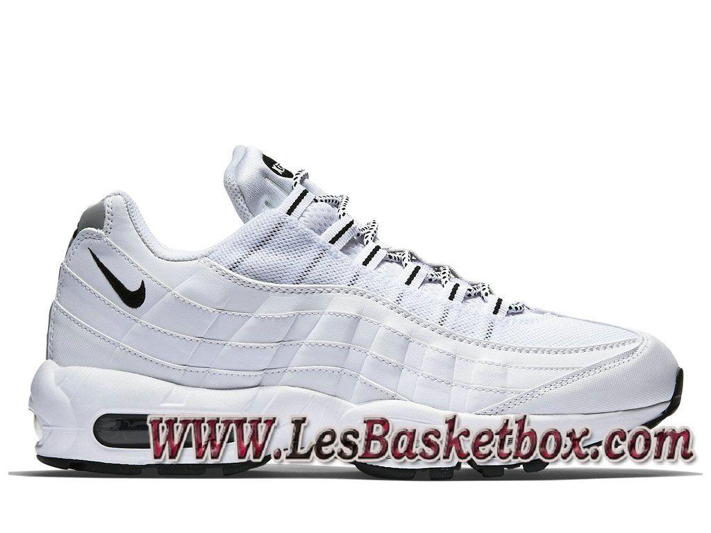 bas prix 861fc 53dfa Nike Air Max 95 Blanches Noires 609048_109 Chaussures ...