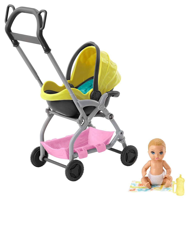 18++ Barbie skipper babysitter stroller playset ideas in 2021