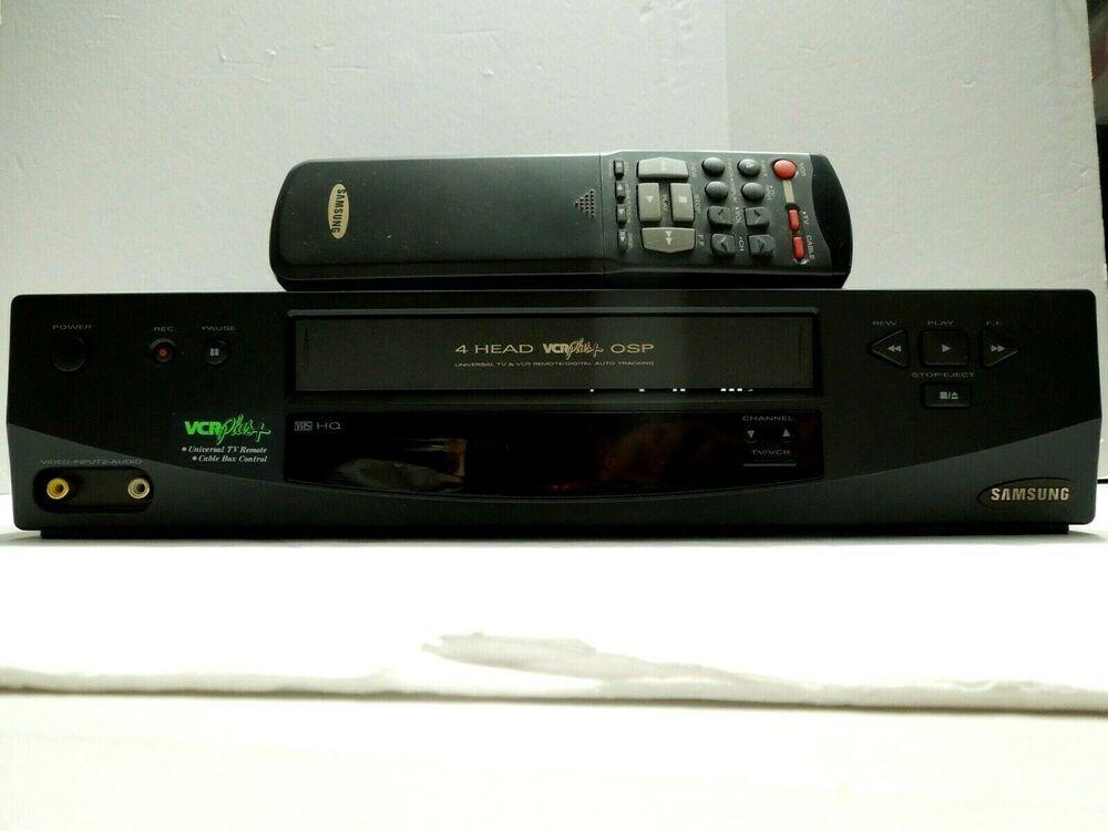 Samsung Vcr Vr5853 Remote Manual Mint Samsung Samsung Vintage Electronics Remote