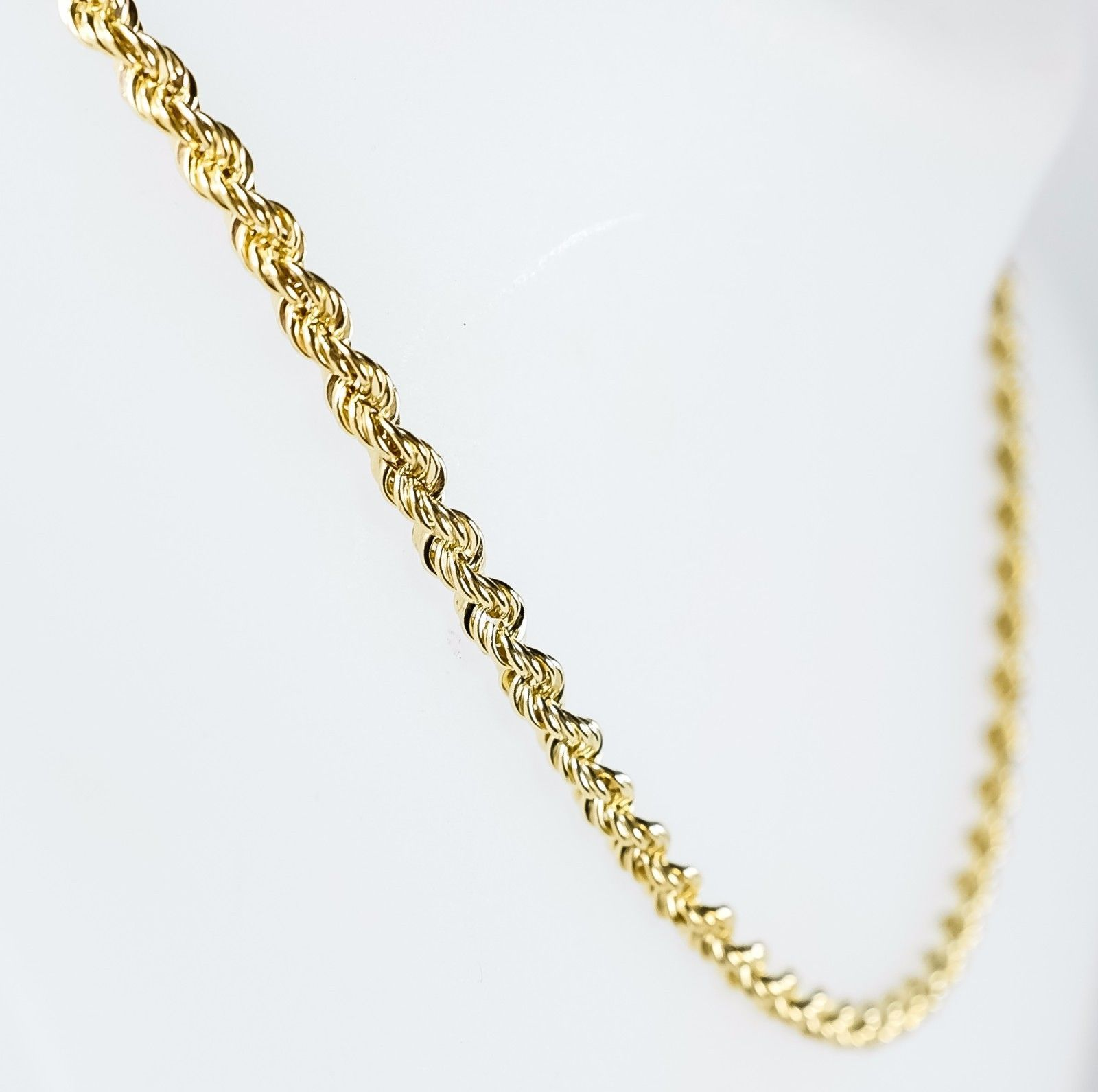 14kt Yellow Gold Solid Rope Chain 1 5 Mm Width 16 0 Inch Long 3 2 Grams By Rg D 10kt Yellowgold G Gold Chains For Men Gold Chains White Gold Chains
