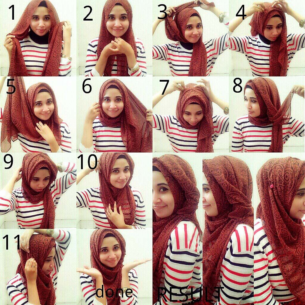 How To Wear Hijab Covering Chest Steps Google Search Simple N