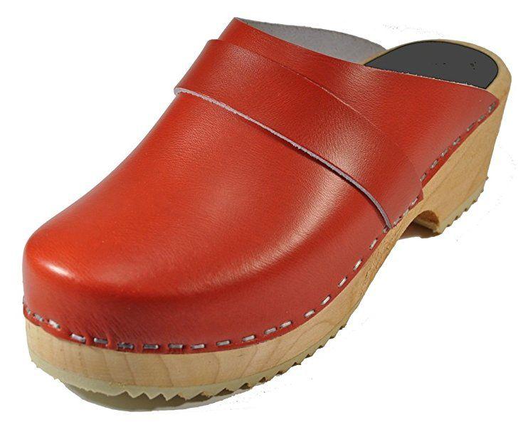Toffeln - Zuecos de cuero para mujer Rojo rojo 36 Descuento Best Place Outlet Real fXdtur