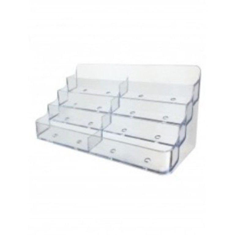 8 Pocket Business Card Holder Counter Capacity 400 Cards Clear ...