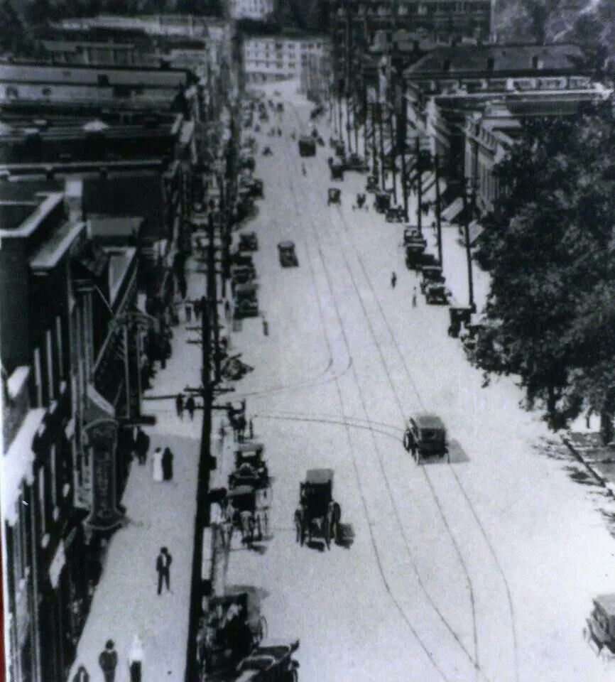 Main Street Greenville S C 1915 Taken From The Old Ottaray Hotel Old Things Old Images True Homes