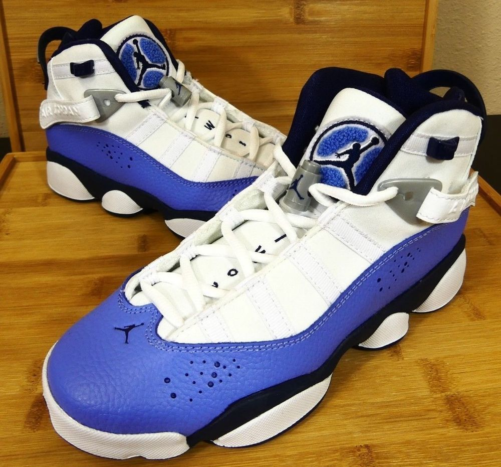 newest 2e552 22a1f Kid s Nike Air Jordan 6 Rings GG Youth UNC Blue 323399 115 Size 5.5Y Womens  7.5  fashion  clothing  shoes  accessories  kidsclothingshoesaccs   unisexshoes ...