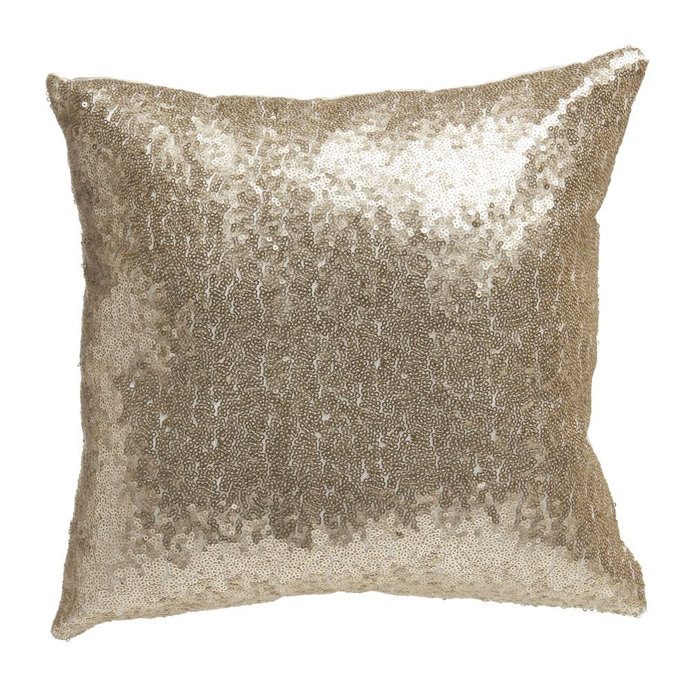Wilko Cushion Sequin Champagne Sequin cushion, Bedroom
