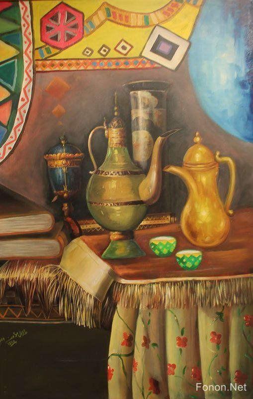لوحات من معرض الفنان التشكيلي السعودي طلال مؤمنة قمة الابداع شبكة روايتي الثقافية Big Art Prints Egypt Art Painting