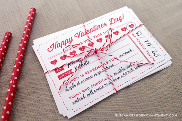 Free Printable ValentineS Day Coupons From Elegance  Enchantment