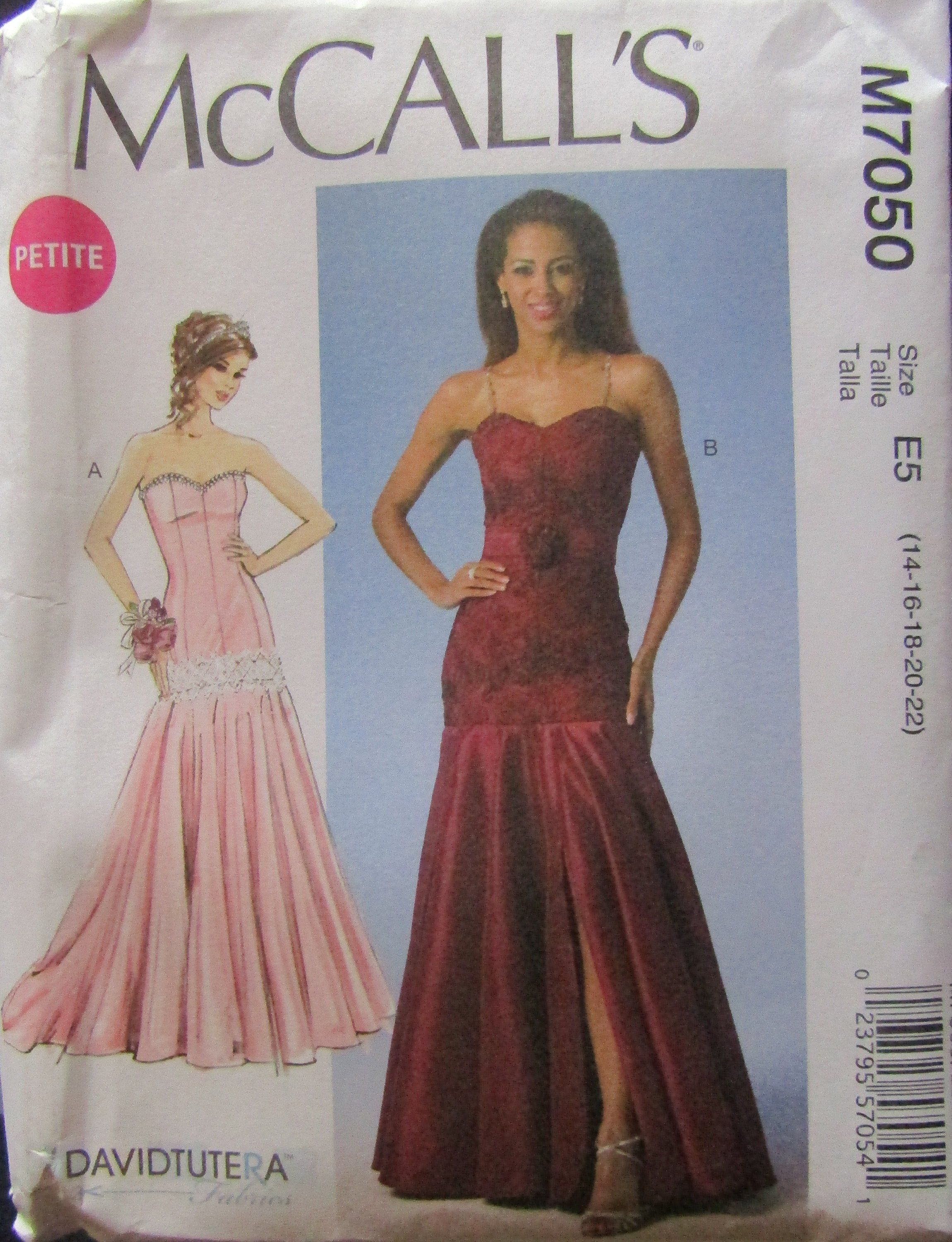 Mccalls 7050 Misses Dresses Belt Sewing Pattern Uncut By