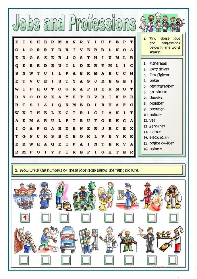 Jobs And Professions Puzzles Rencana Pembelajaran Pendidikan Belajar Teaching english jobs worksheets
